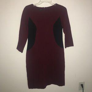 Burgundy/black Midi dress